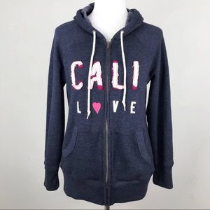 Old Navy Cali Love Zip Up Hoodie Sweatshirt